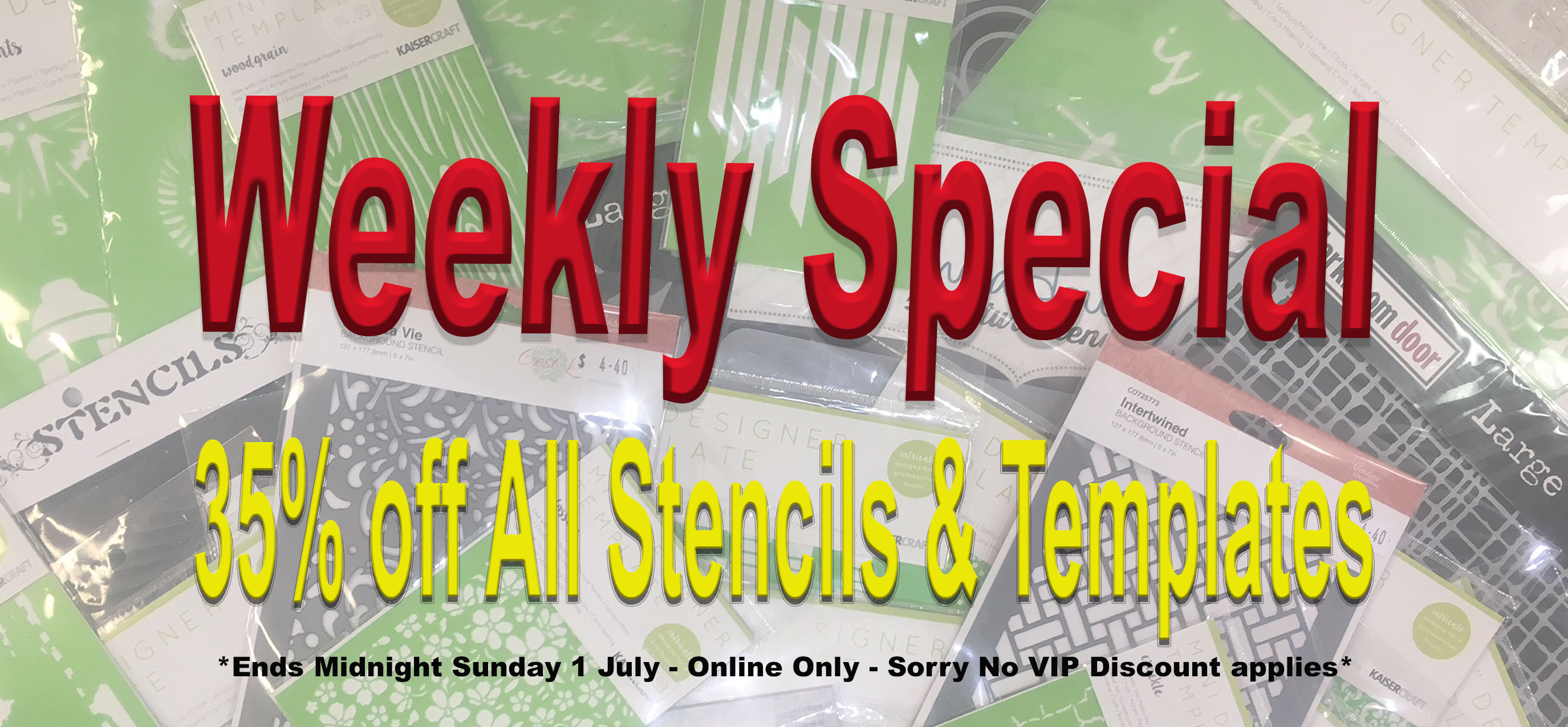 weekly special 35 off stencils templates online only